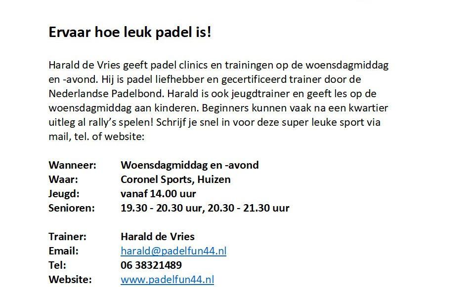 Padel clinic